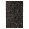 June Hand Woven Polyester Shaggy Rug in Black