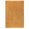 June Hand Woven Polyester Shaggy Rug in Gold