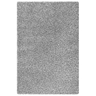 June Hand Woven Polyester Shaggy Rug in Silver