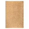 June Hand Woven Polyester Shaggy Rug in Vanilla