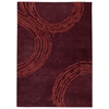 Kairos Hand Tufted Wool Rug in Plum