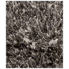 Lucetta Hand Woven Polyester Shaggy Rug in Licorice