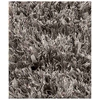 Lucetta Hand Woven Polyester Shaggy Rug in Light Grey