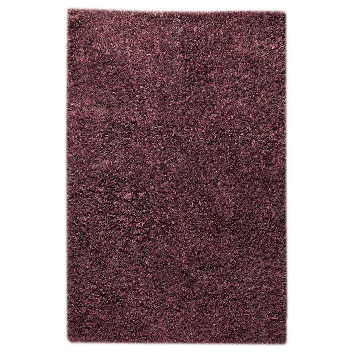 Lucetta Hand Woven Polyester Shaggy Rug in Purple - KMAT-2039-PURPLE