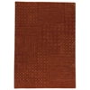 Misha Hand Tufted Wool Rug in Rust