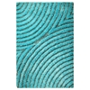 Missy Hand Woven Polyester Shaggy Rug in Aqua