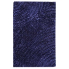 Missy Hand Woven Polyester Shaggy Rug in Blue