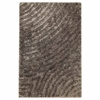 Missy Hand Woven Polyester Shaggy Rug in Grey