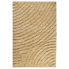 Missy Hand Woven Polyester Shaggy Rug in Vanilla