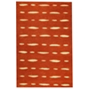 Rosetta Hand Tufted Indian Wool Rug in Orange