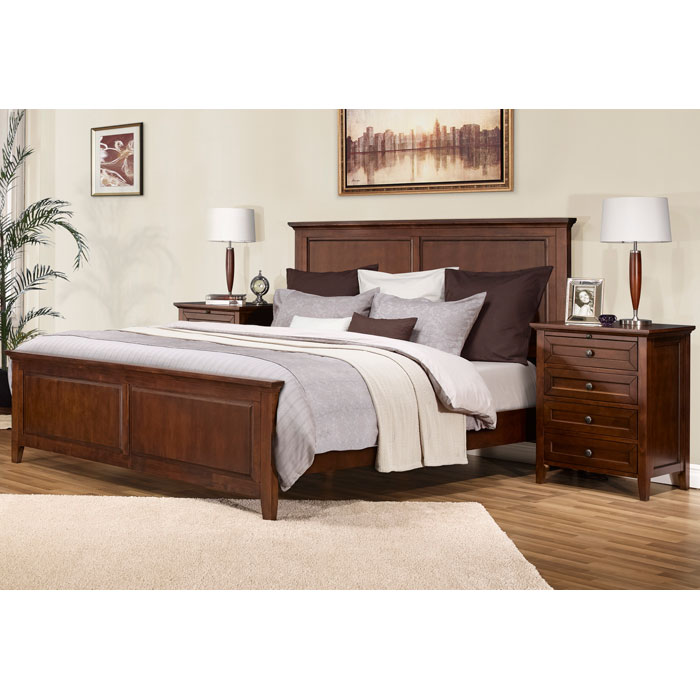 Asti 3 Piece Bedroom Set in Brandy - LSS-ABN-3X-BA-SET