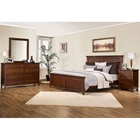Asti 4 Piece Bedroom Set in Brandy