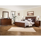 Asti 5 Piece Bedroom Set in Brandy