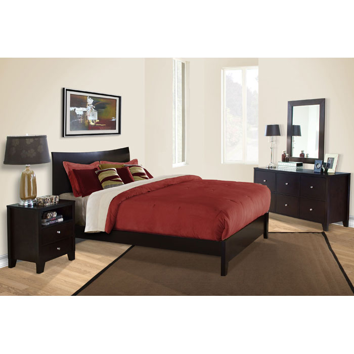 Canova 4 Piece Bedroom Set in Cappuccino - LSS-CNV-4XB-CP-SET