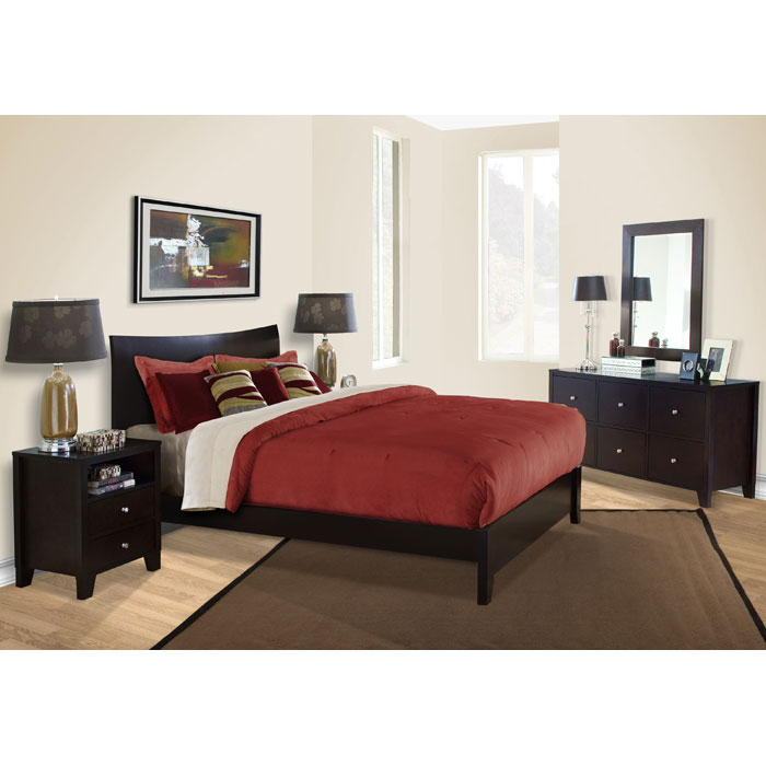 Canova 5 Piece Bedroom Set in Cappuccino - LSS-CNV-5XB-CP-SET
