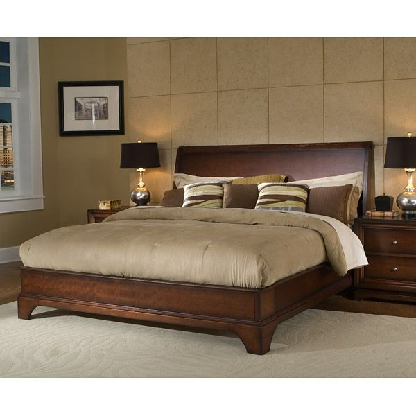 Hailey Bed in Antique Walnut - LSS-HLY-XXX-WN-SET