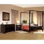 Wilshire 4 Piece Canopy Bedroom Set in Cappuccino