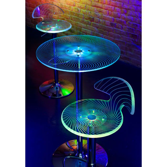 Spyra Glowing Acrylic Bar Table - LMS-BT-SPYRA