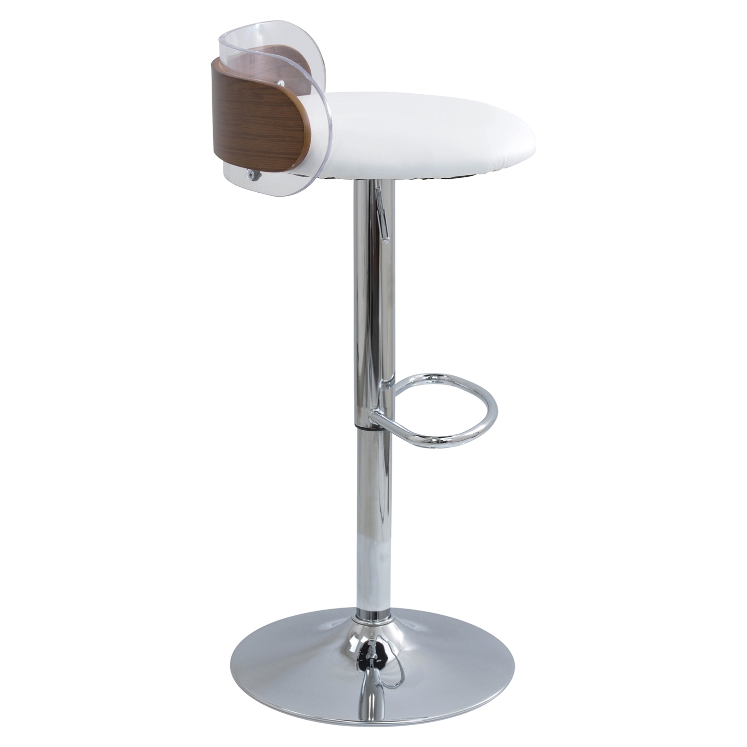 Arc Adjustable Barstool - White - LMS-BS-ARC-WL-W