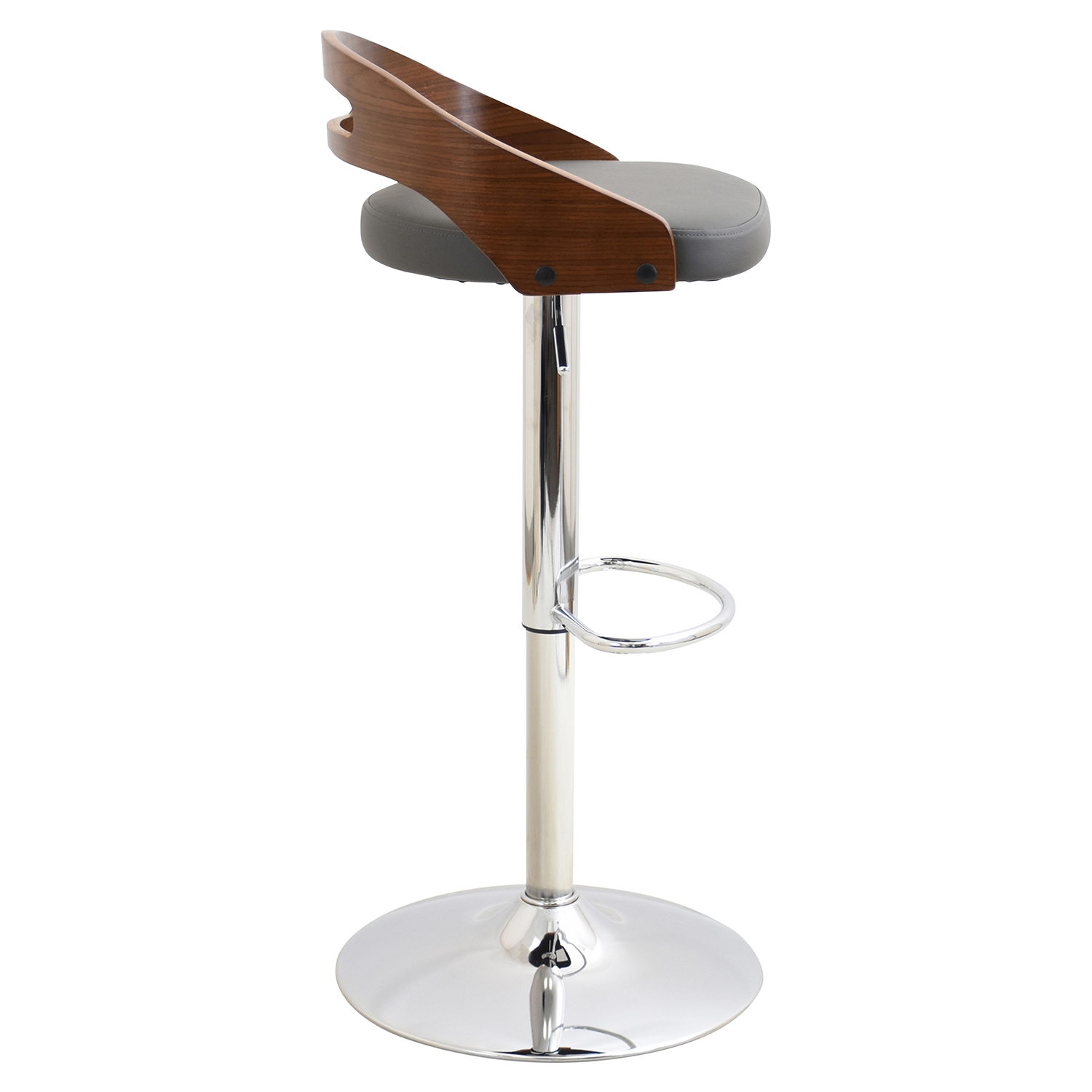 Cassis Height Adjustable Barstool - Swivel, Height Adjustable - LMS-BS-CASS-WL-GY