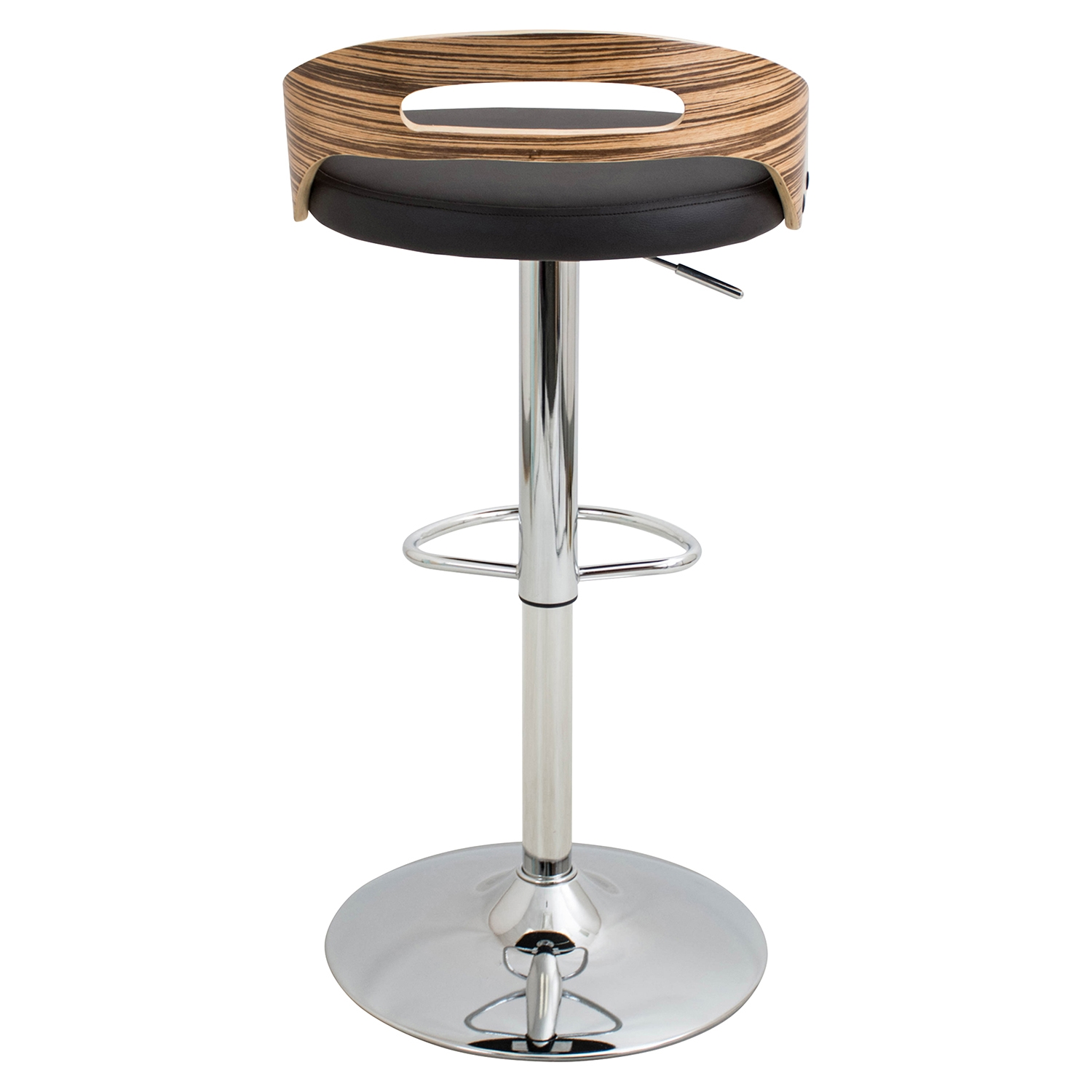 Cassis Height Adjustable Barstool - Swivel - LMS-BS-CASS-ZB-BN