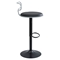Contour Adjustable Barstool - Black, Gray - LMS-BS-CONTR-GY-BK
