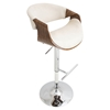 Curvo Height Adjustable Barstool - Swivel, Cream