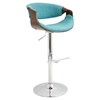 Curvo Height Adjustable Barstool - Swivel, Teal