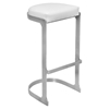 Demi Backless Barstool - White (Set of 2)