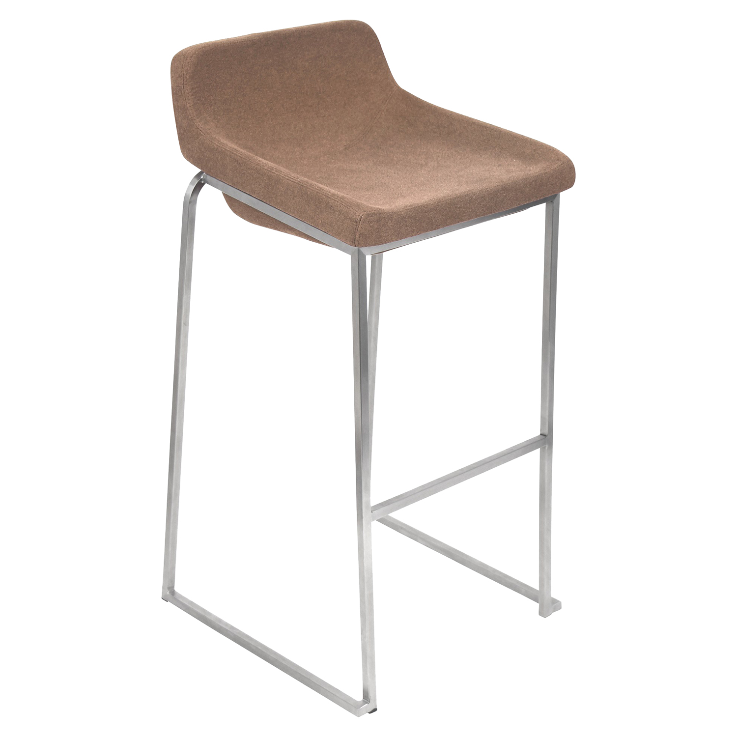 Drop-In Stackable Barstool - Light Brown (Set of 2) - LMS-BS-DROPIN-BN2