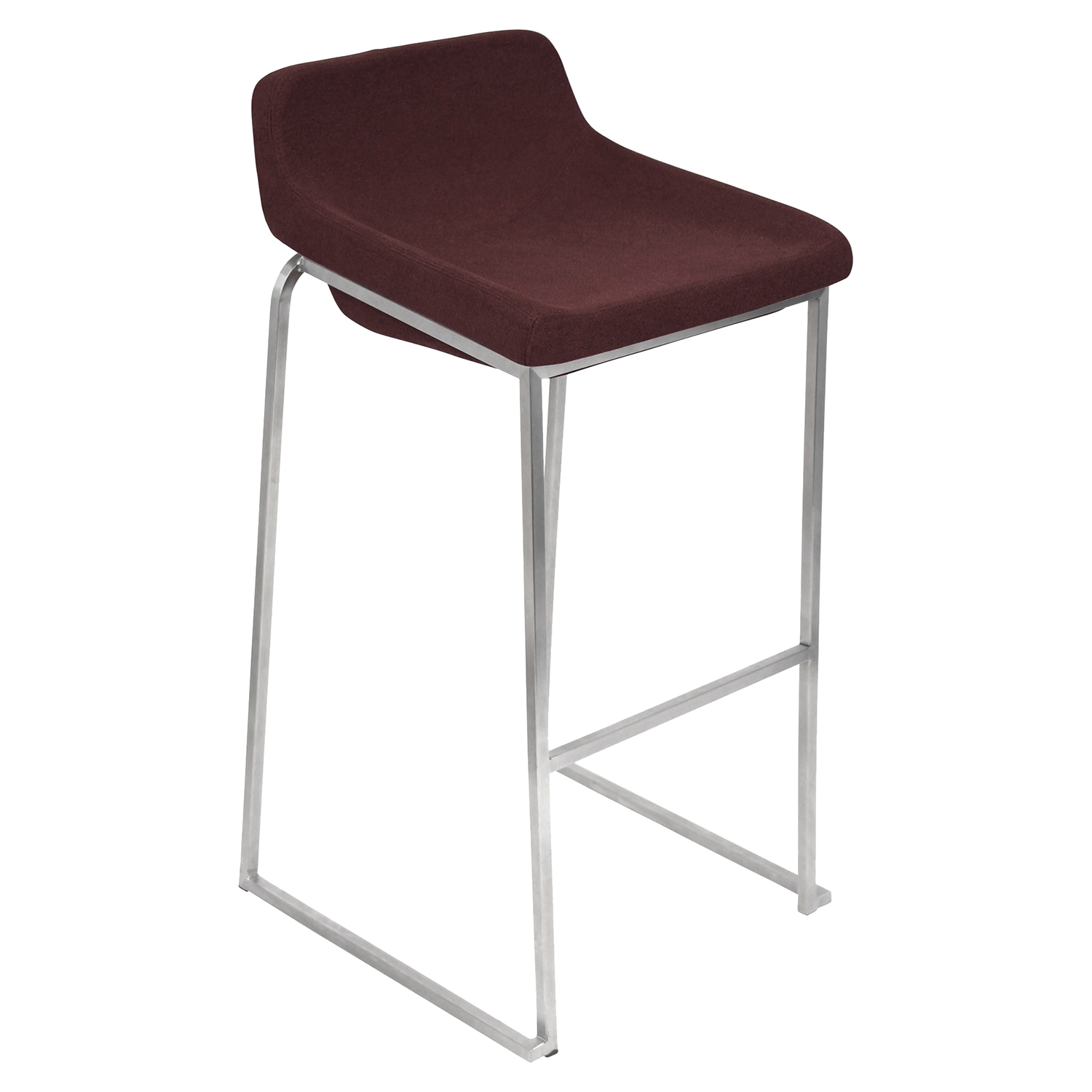 Drop-In Stackable Barstool - Burgundy (Set of 2)