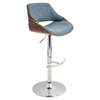 Fabrizzi Height Adjustable Barstool - Swivel, Blue