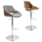 Fabrizzi Height Adjustable Barstool - Swivel, Gray - LMS-BS-FBZZ-WL-GY
