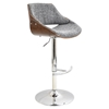 Fabrizzi Height Adjustable Barstool - Swivel, Gray