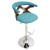 Gardenia Height Adjustable Barstool - Swivel, Teal