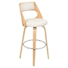 Cecina Swivel Barstool - Cream, Natural