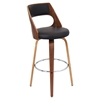 Cecina Swivel Barstool - Brown, Walnut
