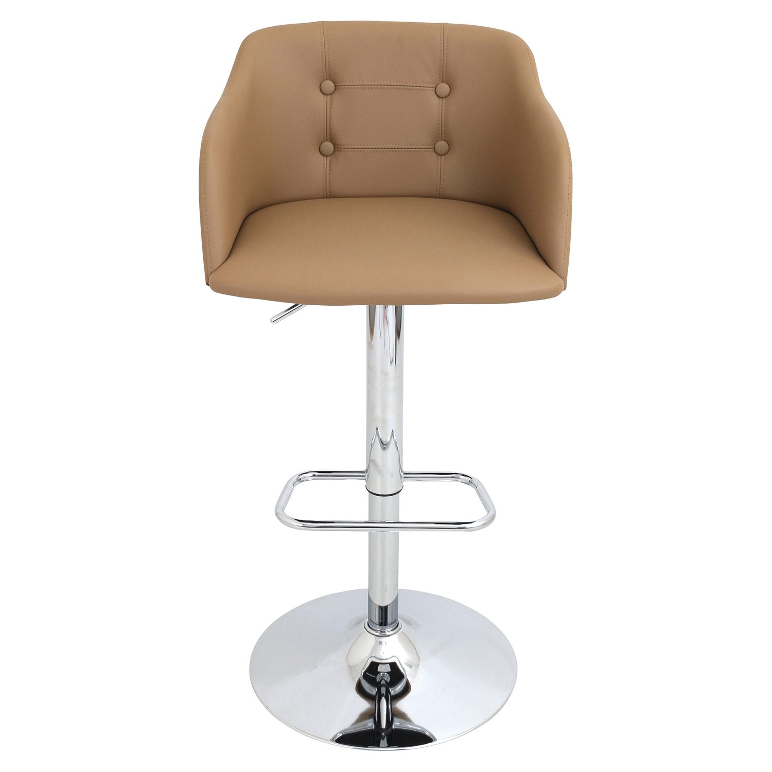 Campania Height Adjustable Barstool - Swivel, Camel - LMS-BS-JY-CMP-CAM
