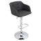 Campania Height Adjustable Barstool - Swivel, Gray - LMS-BS-JY-CMP-GY