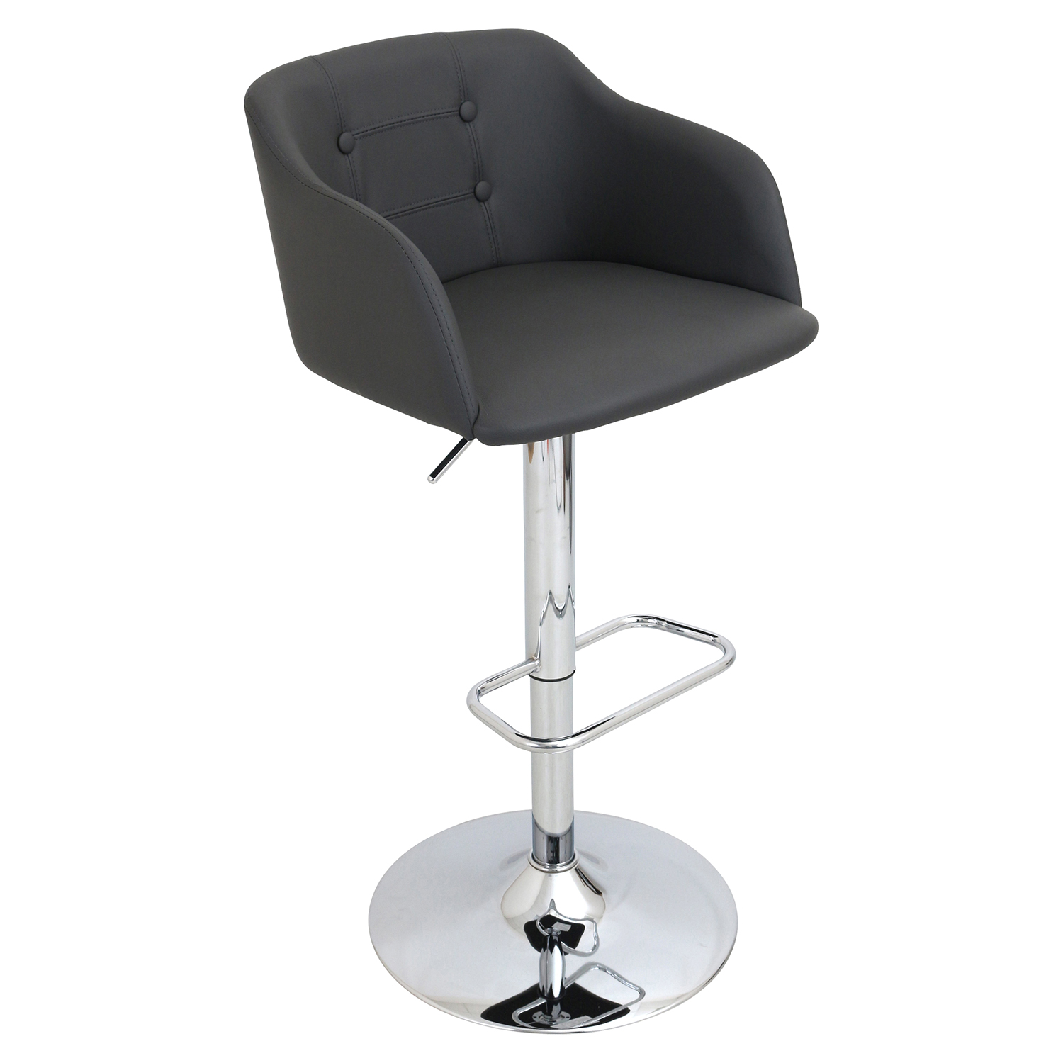 Campania Height Adjustable Barstool - Swivel, Gray