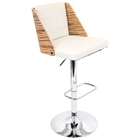 Galanti Bar Stool - Adjustable Height, Zebra Finished Backrest