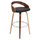 Grotto Swivel Barstool - Brown, Walnut
