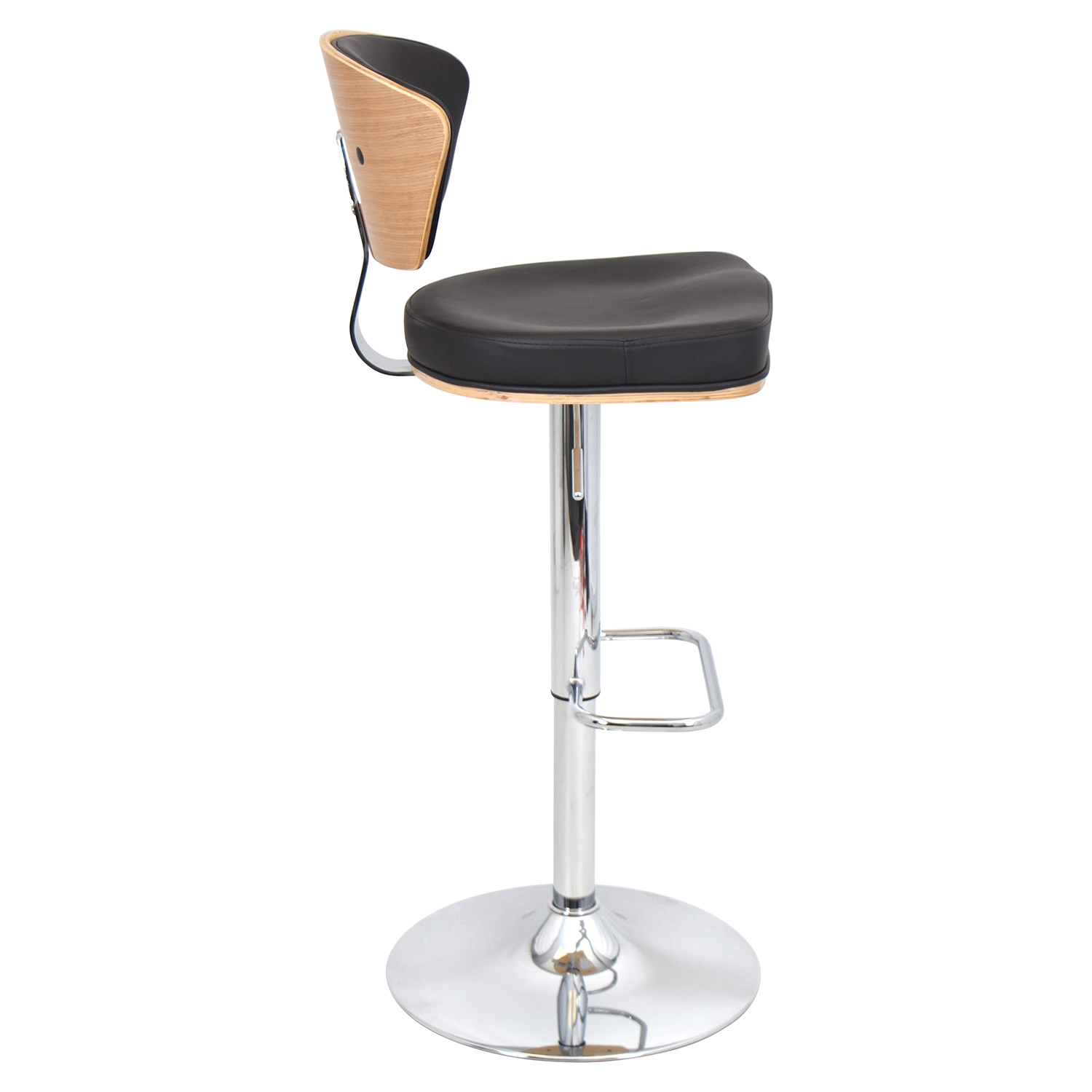 Ravinia Height Adjustable Barstool - Swivel, Bamboo, Espresso - LMS-BS-JY-RAV-BM-E