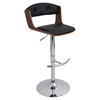 Scucci Height Adjustable Barstool - Swivel, Walnut, Black