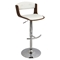 Scucci Height Adjustable Barstool - Swivel, Walnut, White - LMS-BS-JY-SCC-WL-W