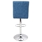 Tintori Height Adjustable Barstool - Swivel, Blue - LMS-BS-JY-TNT-BU