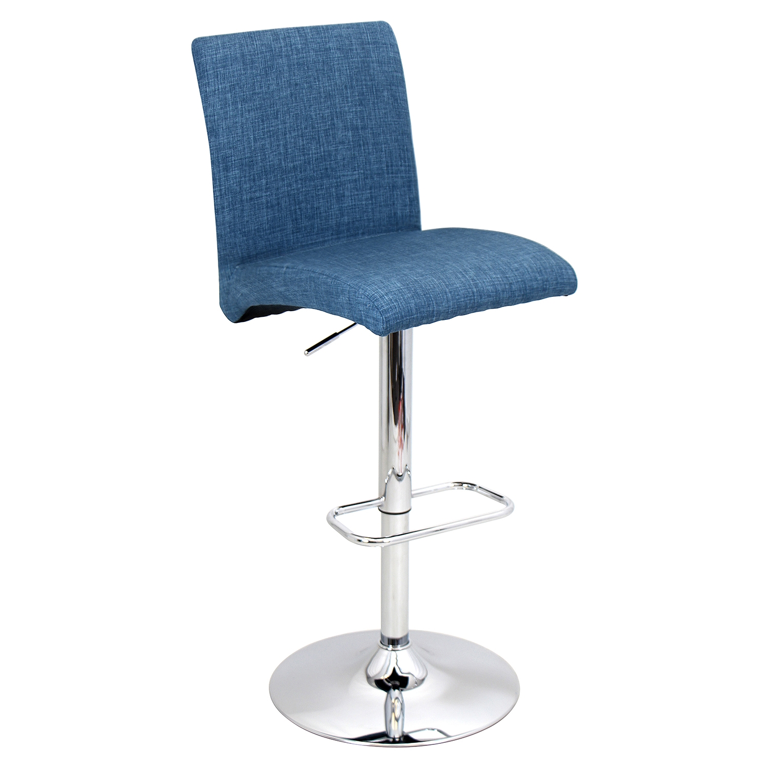 Tintori Height Adjustable Barstool - Swivel, Blue