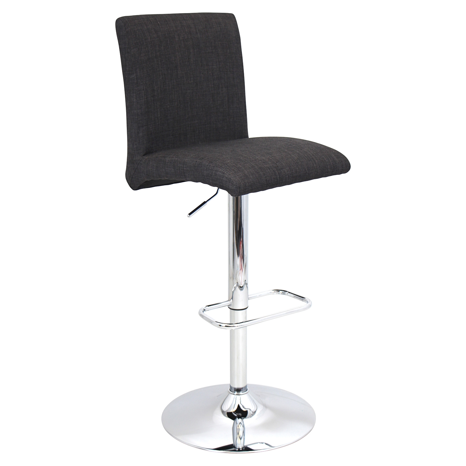 Tintori Height Adjustable Barstool - Swivel, Charcoal
