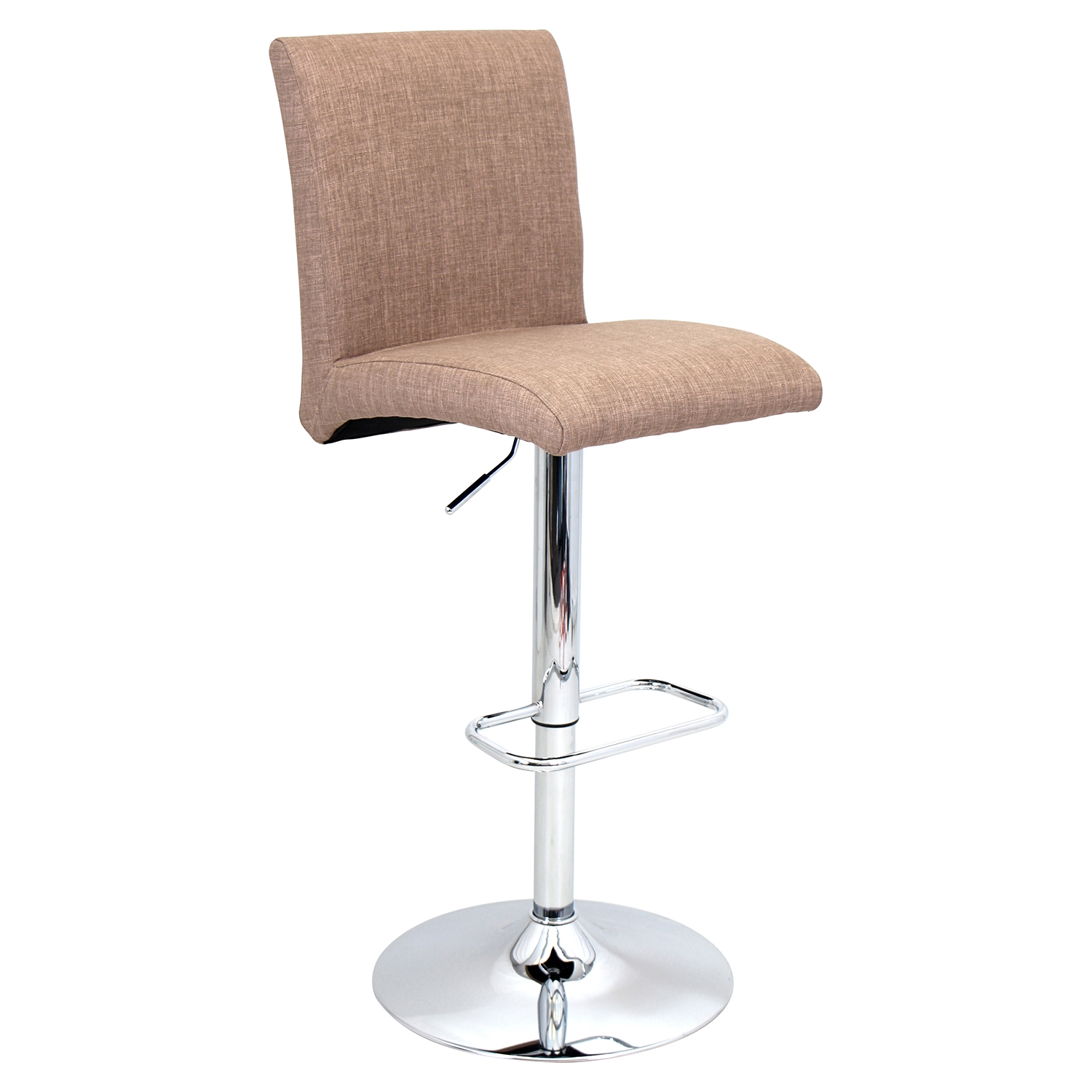 Tintori Height Adjustable Barstool - Swivel, Medium Brown