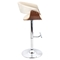 Vintage Mod Height Adjustable Barstool - Swivel, Walnut, Cream - LMS-BS-JY-VMO-WL-C